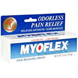 Myoflex Odorless Pain Relieving Cream, 4-Ounce Tubes (Pack of 3)