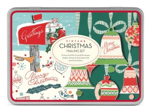 Cavallini Christmas Vintage Mailing Sets, 24