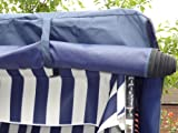 XL-Volllieger-Ostsee-Strandkorb-Gartenliege-Gartenstuhl-inkl-Strandkorbhlle-u-4x-Kissen-grn-grau-olive-kariert-schwarzes-Polyrattan