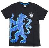 Chelsea FC チェルシー オフィシャル Tシャツ Lion (ブラック, M)