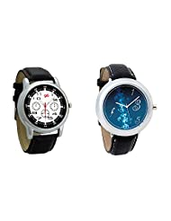 Gledati Men's Black Dial And Foster's Women's Blue Dial Analog Watch Combo_ADCOMB0001832
