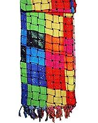ST-Fashion Women Silk STOLE (STFTDPV04_Multi-color_Multi-color_35)