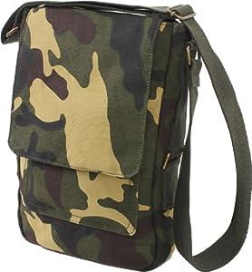 Rothco Vintage Canvas Military Tech Bag - Woodland Camo