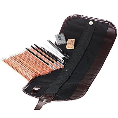 NEW ARIVAL 18PCS Sketch Pencils Charcoal Extender Eraser Paper Pen Cutter Drawing Set