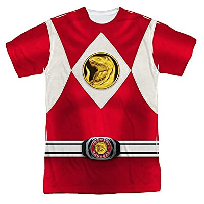 Mighty Morphin Power Rangers Red Ranger Emblem Costume - All Over Front T-Shirt