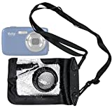 DURAGADGET Compact Camera Case in Black for Vivitar ViviCam 5024, 7025, 7399, X225, F128, F324 & X022 - Premium Quality, Water-Resistant Pouch with Zoom Lens Compartment, Cross-Body Strap & Air-Locked Seals