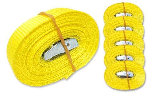 6-Spanngurte-Zurrgurte-250-Kg-4-m-mit-Klemmschloss-Schnellspannung-Farbe-whlbar-gelb