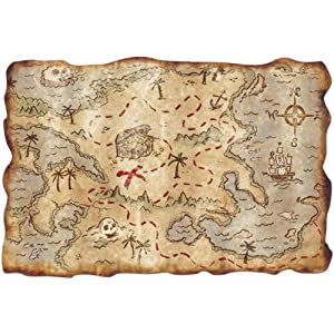 Great Wall Decoration Or Table Mat Map Pirate Birthday Party Accessories Decorations Tableware & Napkins etc...