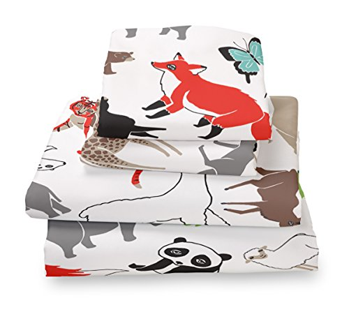 Full Sheet Set Animal Print for Kids Bedding - Double Brushed Ultra Microfiber Luxury Bedding Set By Where the Polka Dots Roam (Kid Bedding Full compare prices)