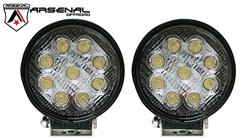 "Led 4"" Round Spot Light Off Road Rack Bar Lighting 4X4 Trucks Jeeps Atv Utv Rhino Razor Boats 12Volt 2Pack Combo"