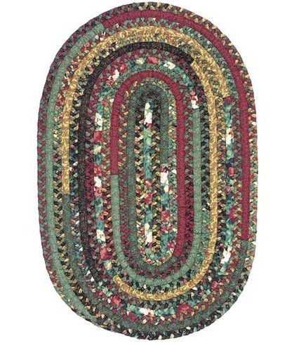 "Thimbleberries Four Seasons Oval Winter Braided Rug Size: Oval 42"" x 66"""