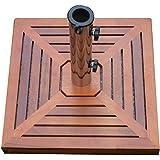 Sonnenschirmständer +Holzverkleidung Granit Edelstahl 40kg Schirmständer