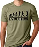 Golf Evolution Funny T-shirt Golfer Humor Tee Olive XL