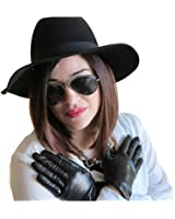 FOWNES Women's Cashmere Lined Metisse Lambskin Leather Gloves