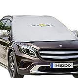 Hippo(ヒッポ) 車 フロントガラスカバー 軽自動車 凍結防止シート 車用フロントシェード 日よけ 雪対策 撥水