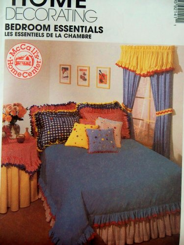 McCall's Home Decor Sewing Pattern 9214. Included Are: Instructionsd & Patterns for Drapes, Tabletoppers, Tablecloth; Ruffled Valance, Scarf Valance, Duvet Cover, Dust Cover, Dust Ruffle; Shams, Pillows, & Neckroll from McCall's