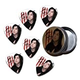 Ronnie Radke Falling in Reverse Escape the Fate 6 X Celluloid Guitar Pick in Tin ( Flag Design )