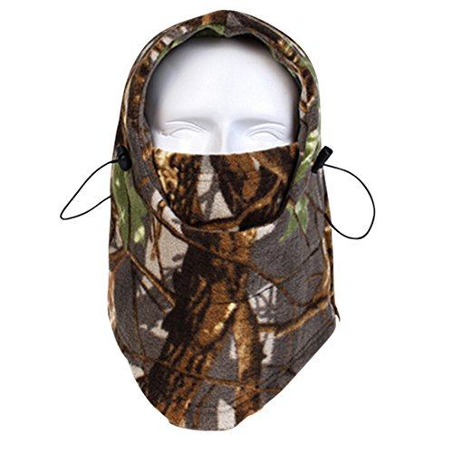 Your Choice Thermal Fleece Neck Head Warmer Hood Cap Hat Full Face Mask Size Free Camo Forest