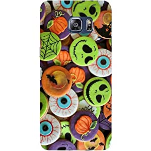 Casotec Halloween Cookies Design Hard Back Case Cover for Samsung Galaxy S6 edge Plus