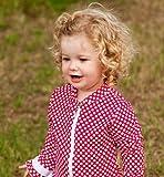 ベビー ラッシュガード 水着 パンツスーツ ラズベリー 水玉フリル 2-3歳 90 - 95 UVカット UPF50 ランキングお取り寄せ