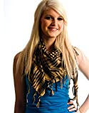 Anuze Fashions New Styles Scarves Arab Shemagh Arafat Scarf For Women's And Girl's (CAMEL-BROWN-CCAELL0478)