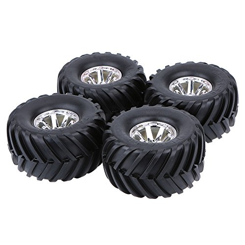 GoolRC 4Pcs/Set 1/10 Monster Truck Tire Tyres for Traxxas HSP Tamiya HPI Kyosho RC Model Car (Hsp Truck compare prices)