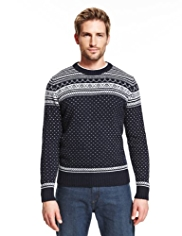 Blue Harbour Lambswool Rich All-Over Fair Isle Jumper