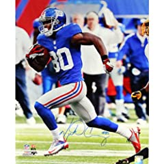 NFL New York Giants Victor Cruz Running Football Blue Jersey Signed Photo, 16 x... by Steiner Sports