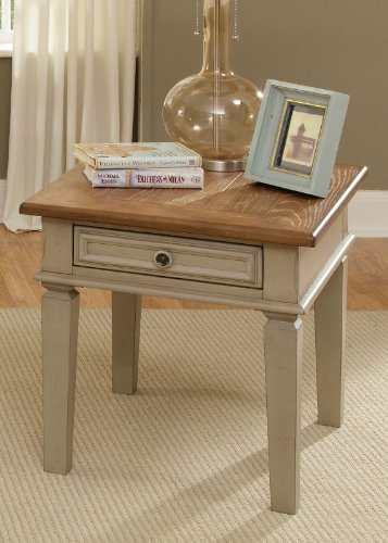 Cheap End Table by Liberty – Driftwood & Taupe (541-OT1020) (541-OT1020)