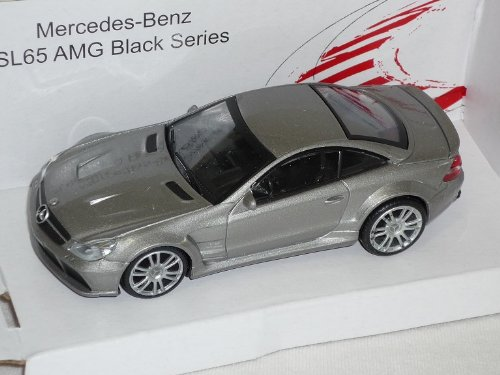 Mercedes-Benz Sl65 Sl 65 AMG Black Series Grau Coupe 1/43 Mondo Motors Modellauto Modell Auto