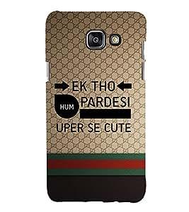 EPICCASE Ek tho Pardesi Mobile Back Case Cover For Samsung Galaxy A7 (Designer Case)