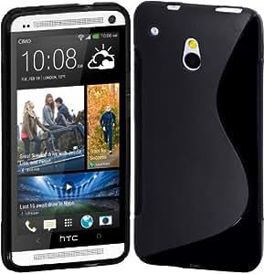 CUBIX S Line soft TPU Gel Back Case Cover For HTC One Mini (Black)