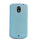 GALAXY Nexus SC-04D /ドット柄 メッシュ プラスティックケース / ライトブルー