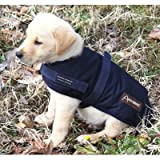 Breathable Waterproof Dog Rain Coat Size: Large (20 - 22 D), Color: Navy Blue