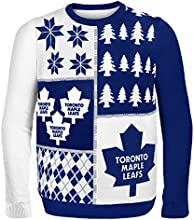 Forever Collectibles Toronto Maple Leafs Busy Block Ugly Sweater, Blue, Extra Large