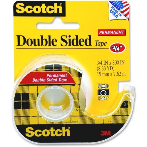Scotch Double Sided Tape, 3/4-Inch X 300 Inch, 1 Roll (237)