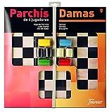 Fournier - Tablero Parchís/Damas y fichas, 40 x 40 cm, para 4 jugadores (F28981)