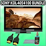 Sony Bravia S-Series KDL-40S4100 40-inch 1080p LCD HDTV & Accessory Kit Bundle with 3 Year Extended