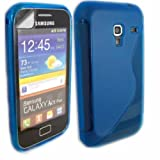Gel Case Cover Skin And Screen Protector For Samsung Galaxy Ace Plus S7500 / S-Line Blue
