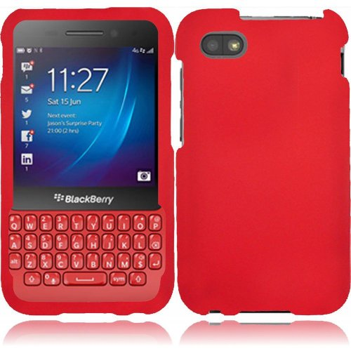 Cell Accessories For Less (Tm) For Blackberry Q5 Rubberized Cover Case - Red // Free Shipping By Thetargetbuys