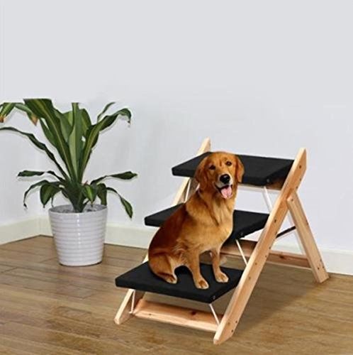 1-pcs-eloquent-modern-2-in-1-pet-ramp-and-stairs-easy-folding-portable-wood-wooden-colors-black