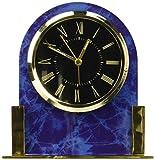 The shopping aisle Dome Acrylic Desk Clock, Blue Marble
