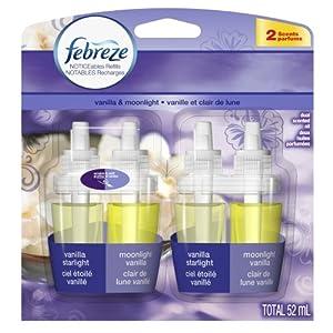 Febreze Noticeables Refill Vanilla & Moonlight Air Freshener (2 Count; .879 Fl Oz Each), 1.758 Ounce
