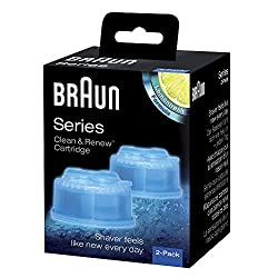Braun Clean and Renew Cartridge Refills, Pack of 2 (Sky Blue)