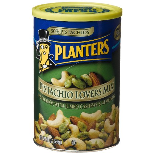 Planters Pistachio Lovers Mix 21 Ounce Can