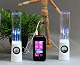 Better Tech USB Water Dancing Speakers - White