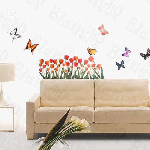 Cheap Tulip & Butterfly – Wall Decals Stickers Appliques Home Decor sale