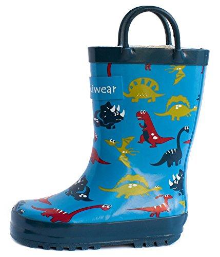 Toddler/children's Rubber Rain Boots (6, Blue Dinosaurs) (Rain Boots Blue compare prices)