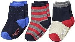 OshKosh BGosh Baby Baby-Boys Newborn 3 Pack Colorblocked Socks, Multi-Color, 12-24 Months