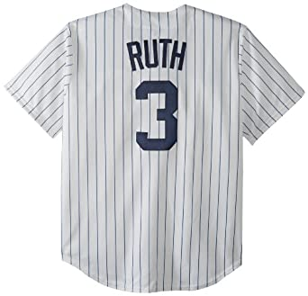MLB Babe Ruth New York Yankees 1927 Short Sleeve Synthetic Replica Jersey by Majestic
